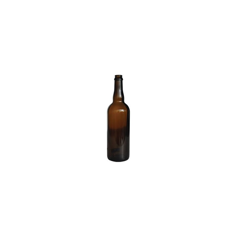 Beer bottle Belgium 75cl brown crown cork 26mm x33