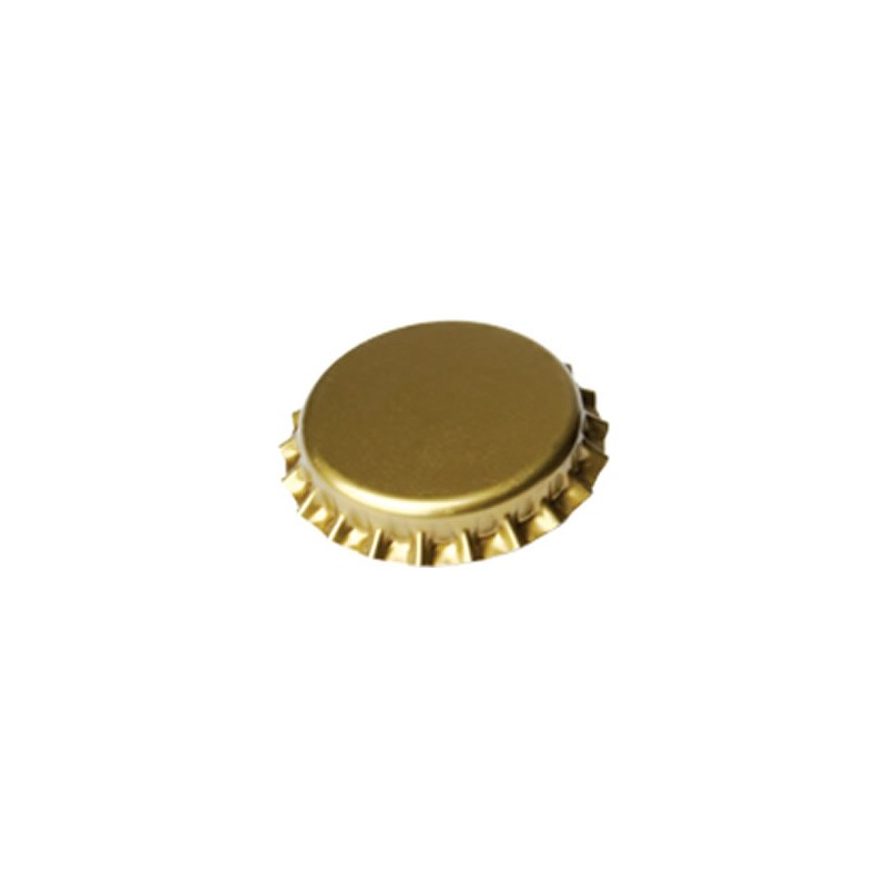 packing of 100 crown caps 26mm - gold [Oxygen Absorbing]