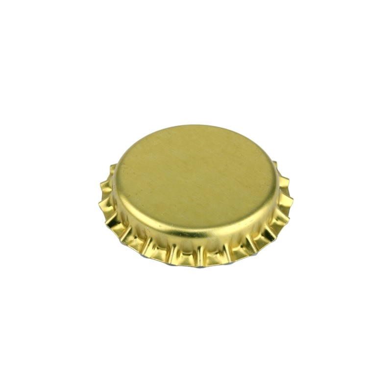 Crown caps 26mm - bright gold