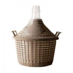 Demijohn 5L with plastic basket