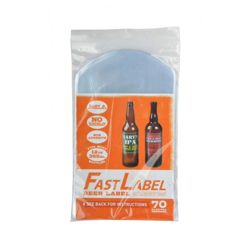 FastLabel beer label sleeves - 330 ml - 70 St.
