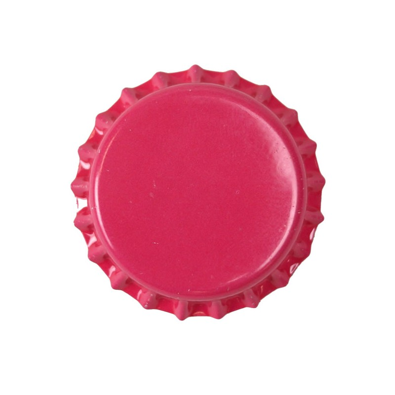 Crown caps 26mm - fuschia