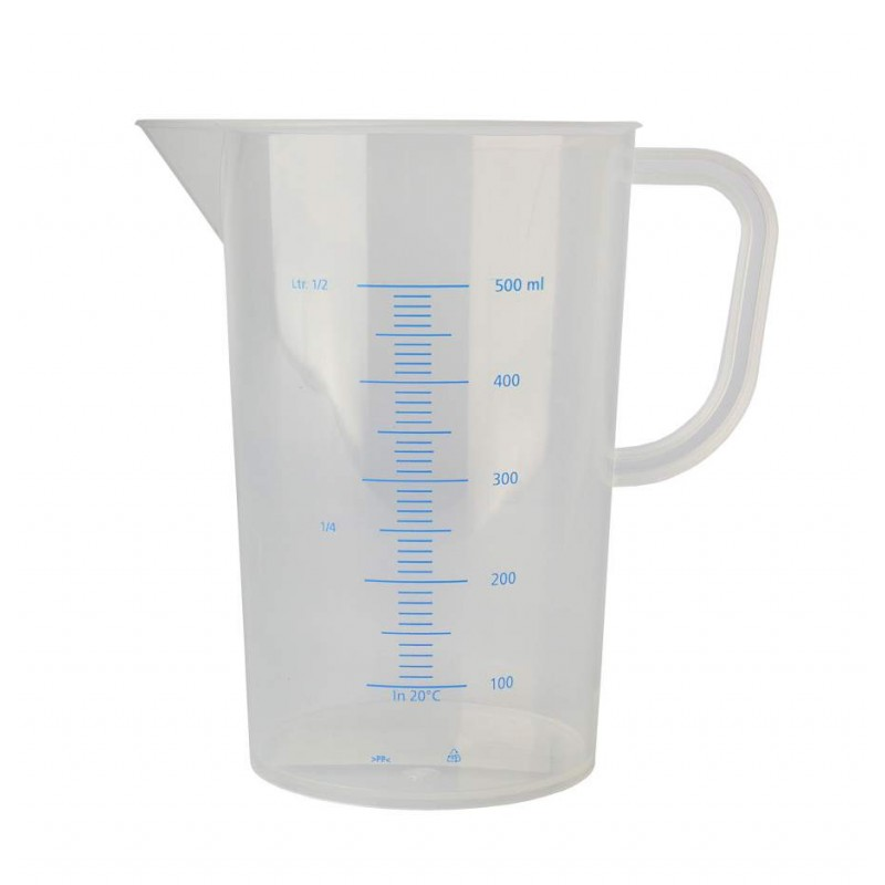 Measuring jug polypropylene graduated 500ml