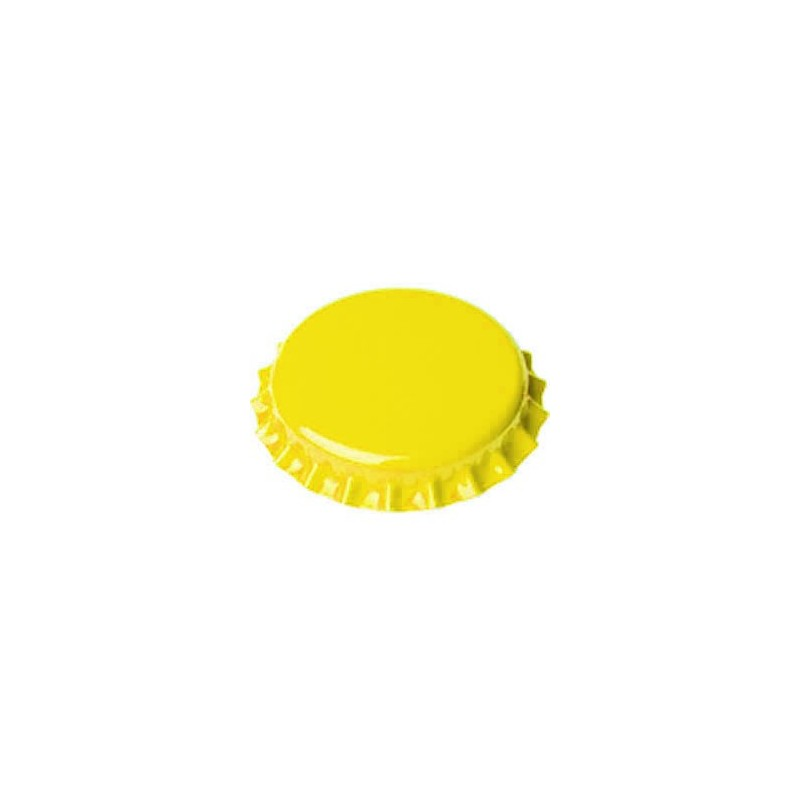 Crown caps 26mm - yellow