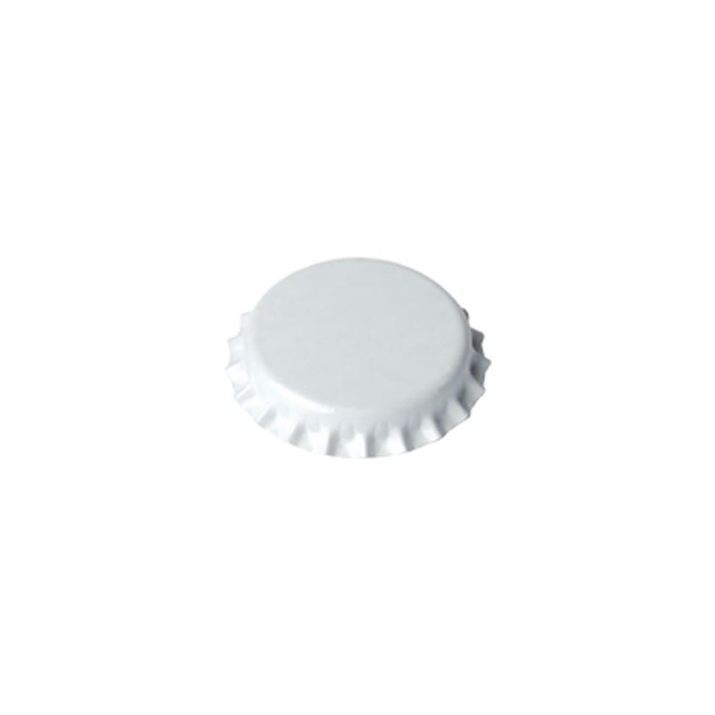 Crown caps 26mm - white