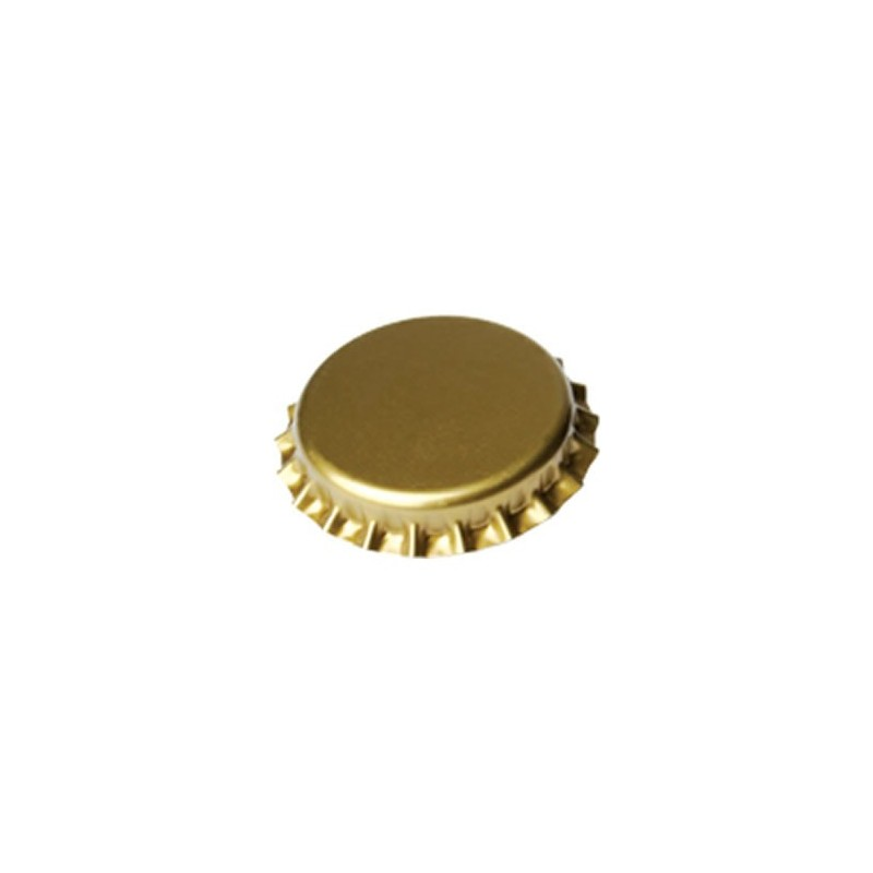 Crown caps 26mm - gold