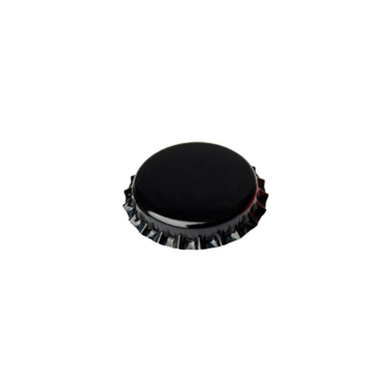 Crown caps 26mm - black