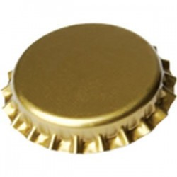 Crown caps 29mm - gold