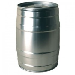 Mini keg 5L grey + rubber plug